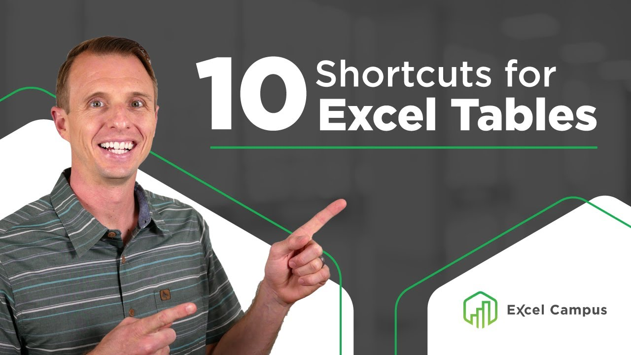 10 Essential Shortcuts for Excel Tables