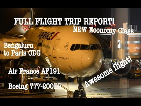 Air France Boeing 777 NEW Economy FULL FLIGHT TRIP REPORT: AF191 Bengaluru to Paris!