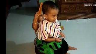 Twin baby funny video