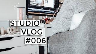 STUDIO VLOG 006   Video editing, cheap books, & content creator tips!