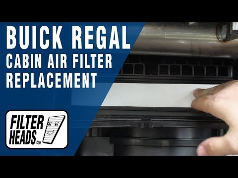 How to Replace Cabin Air Filter 2013 Buick Regal