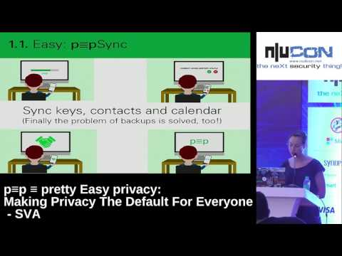 nullcon Goa 2017 - P≡P ≡ Pretty Easy Privacy: Making Privacy The Default For Everyone by SVA