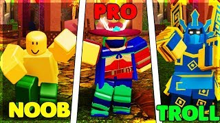 NOOB vs PRO vs TROLL! (ROBLOX DUNGEON QUEST)