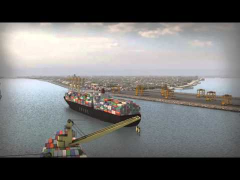 Bushehr port development project Animation