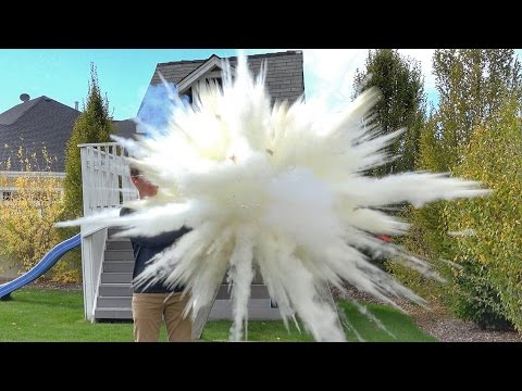 What's inside EXPLODING Fire Extinguisher Balls?