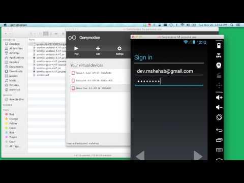 Installing Google Apps on GenyMotion