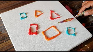 Geometry / Vibrant Abstract Painting / Demonstration / Satisfying / Project 365 days / Day #0357 thumbnail
