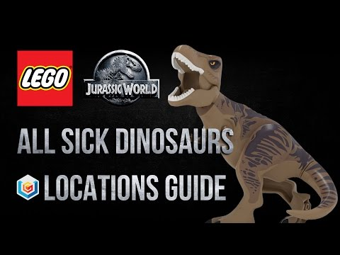 LEGO Jurassic World All Sick Dinosaurs Locations Guide (What Lysine Contingency Achievement/Trophy)