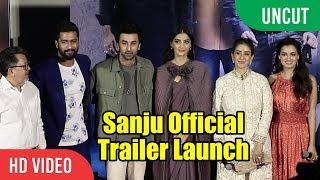 UNCUT - SANJU Official Trailer Launch   FULL HD VIDEO   Ranbir Kapoor, Sonam Kapoor, Dia Mirza