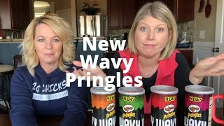 NEW Pringles Wavy - Sweet and Tangy BBQ, Salted, Fire Roasted Jalapeño and Applewood Smoked Cheddar