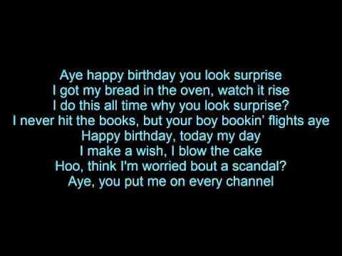 Tyga - Happy Birthday (Lyrics)