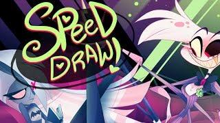 SPEED DRAW- Classic Rivals (Hazbin Hotel)-Vivziepop