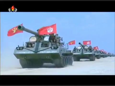 KCTV - North Korea Full Artillery Salvos Show Of Force Live Firing [480p]
