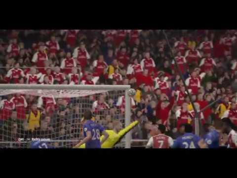 Rob Holding goal ,Arsenal - Leicester (FIFA 17)