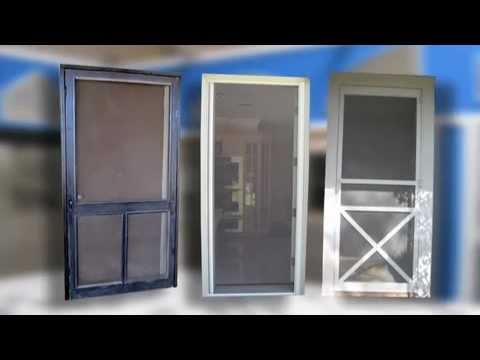 security screen door with pet door 2
