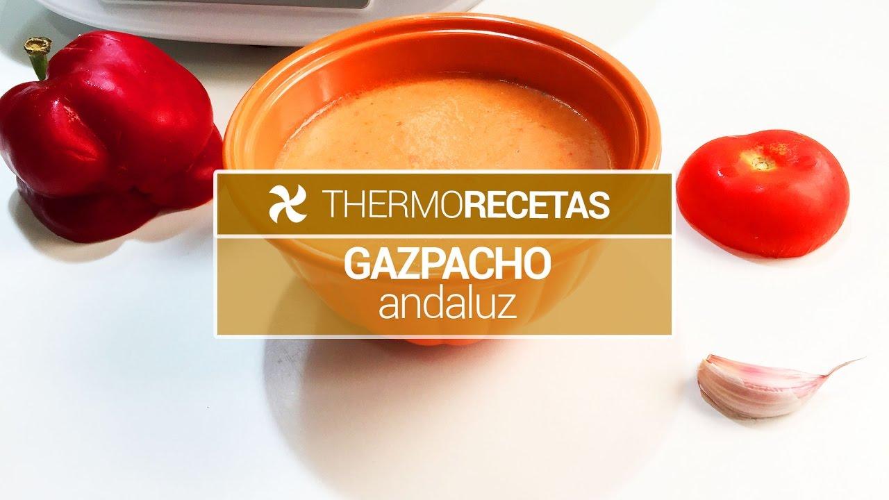 Como hacer gazpacho cordobes con thermomix