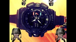 SMAEL 1436 Military Style black (unboxing)
