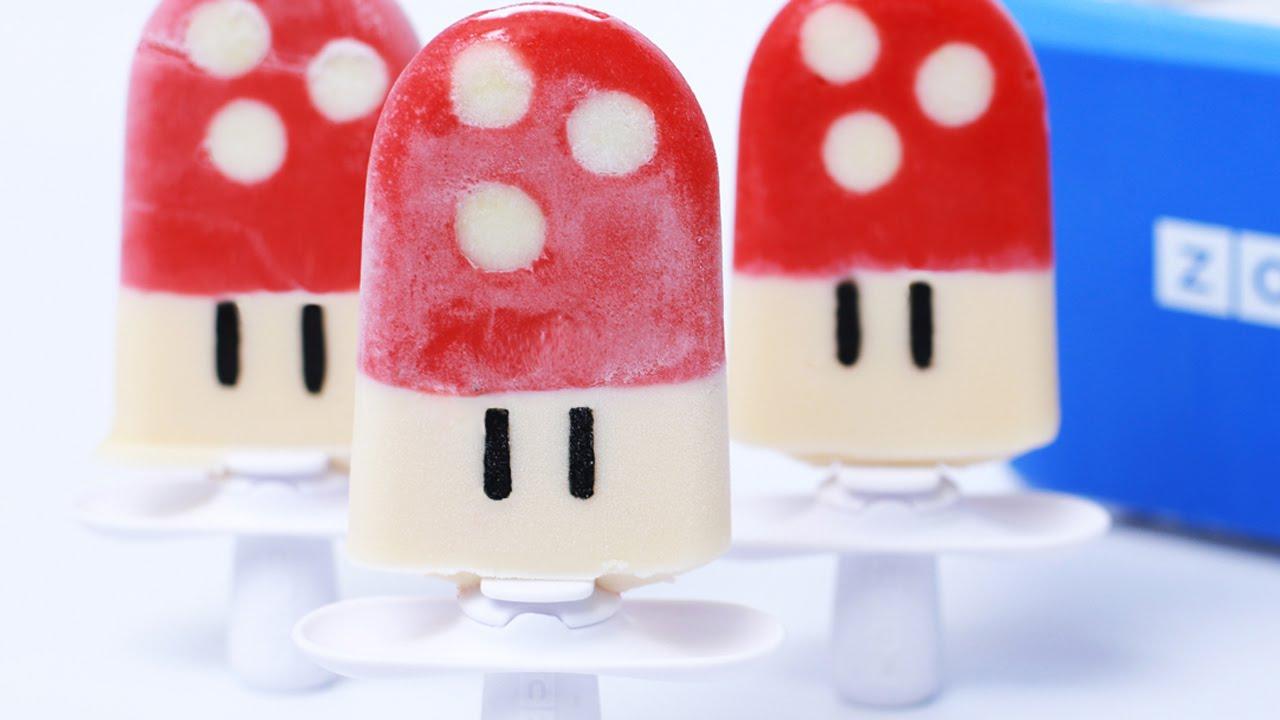 super mario mushroom popsicles