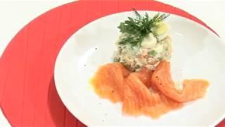 Салат ''Оливье'' с лососем