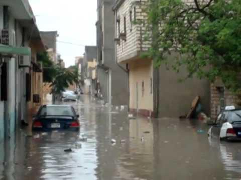 Heavy Rain, neighbourhoods under water in Tripoli, Libya