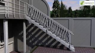 Vidéo: Escalier extérieur Innotec + rampe sur deux côtés