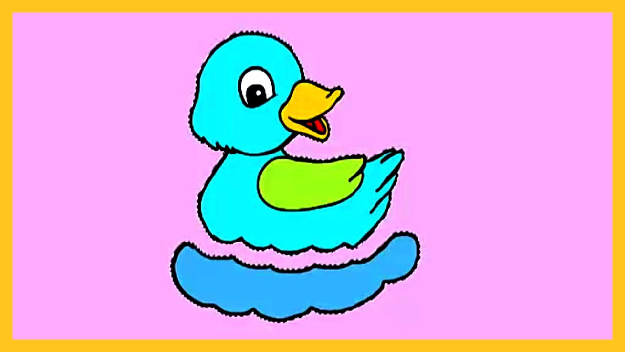 learn colors with duck how to color a duck coloring for kids by