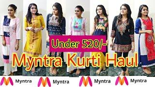 MYNTRA kurti haul 2018 | TRY ON haul | Affordable Kurtis | Ria Das
