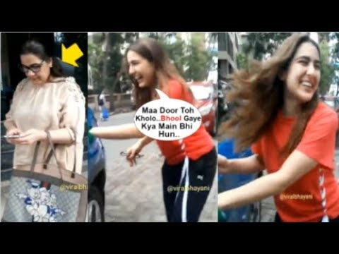 Sara Ali Khan's FUNNY Video After Mom Amrita Singh FORGETS Her And Locks The Car Door