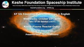 Keshe Plasma Reactor Group October 23rd, 2019