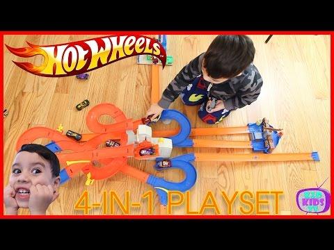 HOT WHEELS AUTO LIFT EXPRESSWAY Toy| KD Kids Tv