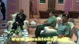 Kunjungan Hormat Panglima Tentera Darat,Jeneral Tan Sri Dato Sri Panglima Zulkifli Zainal Abidin Di Pejabat MB