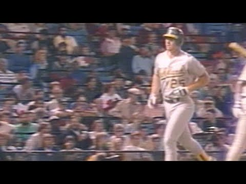 Mark McGwire hits his 41st home run of 1987