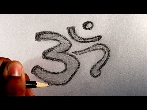 How to draw / write Om the most powerful sound of Hindu origin.