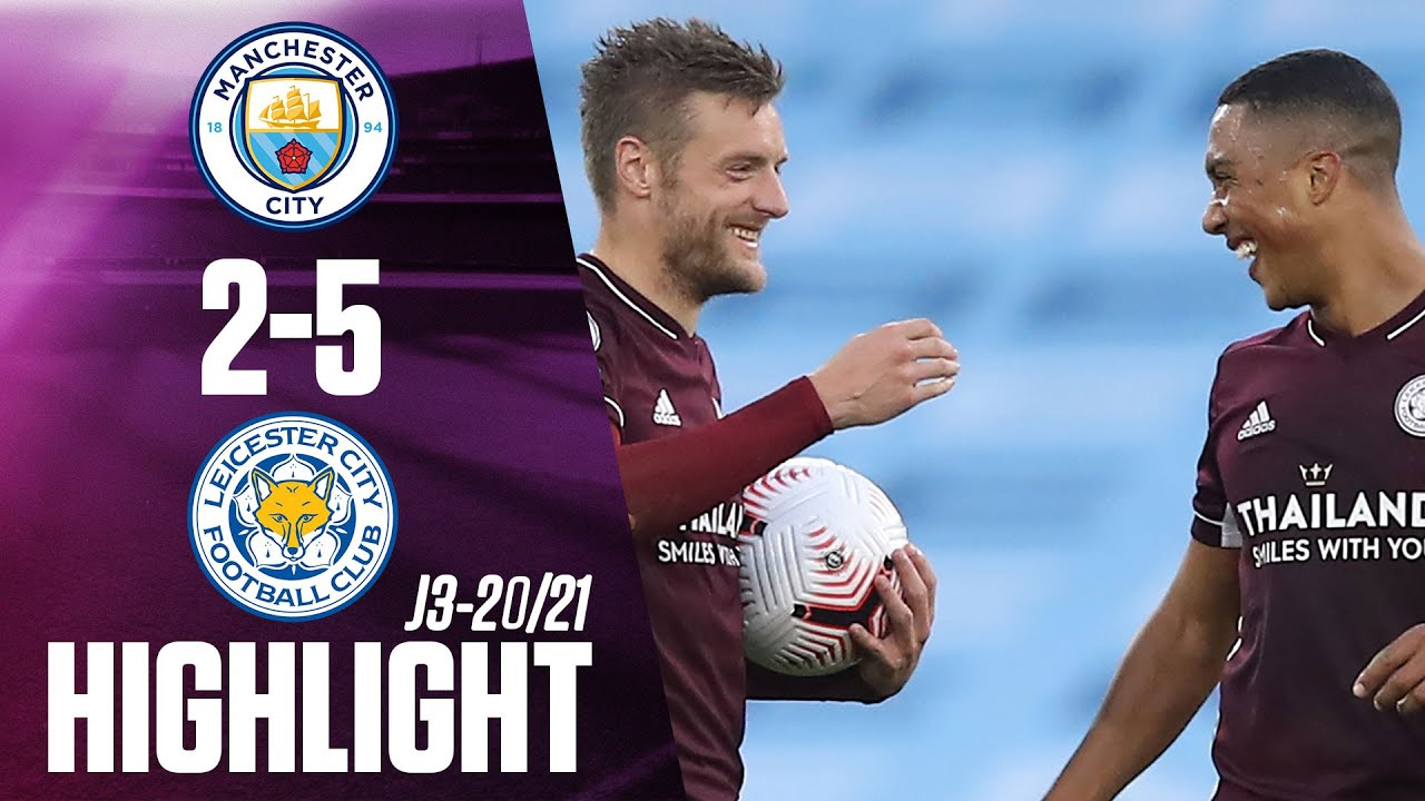 Highlights & Goals   Man City vs. Leicester City United 2 ...