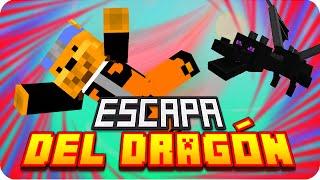 GANARÉ!! ESCAPA DEL DRAGÓN! D:!!   Minecraft