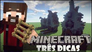 Minecraft Três Dicas - Aprenda a Construir Telhados Detalhados!
