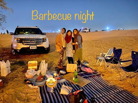 Barbecue night #bbqnight #dubai #nightcamping #friends family #desert camping