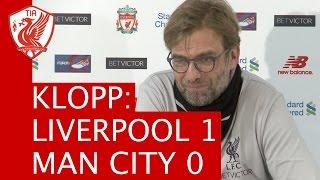 liverpool 1 0 manchester city jurgen klopp s post match press conference