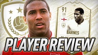 91 ICON MOMENTS BARNES PLAYER REVIEW! - FIFA 20 Ultimate Team