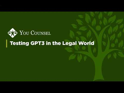 Testing GPT3 In The Legal World