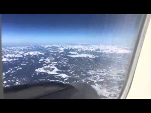 United Airlines B737 Over Rocky Mountains
