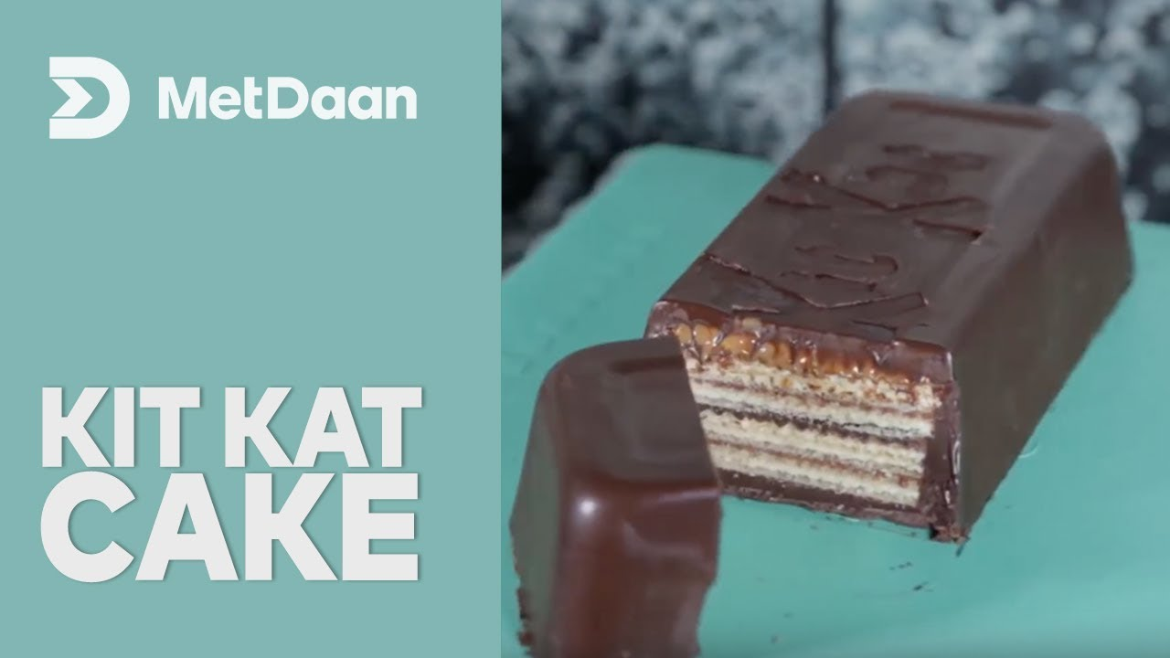 How To Make Kit Kat Cake Youtube