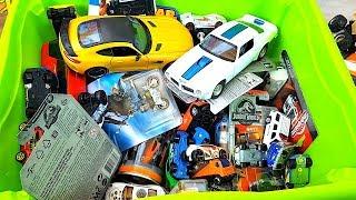 Box full of cars Welly Hot Wheels Matchbox