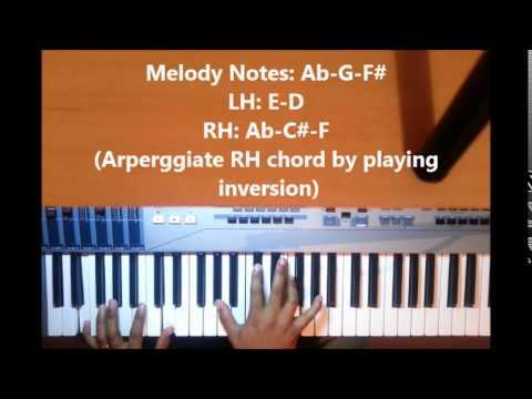 Piano Tutorial-6 2 5 1 4 progression in E
