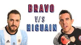 Bravo vs Higuaín - Argentina vs Chile – El Penal - By Kramer&Bossi