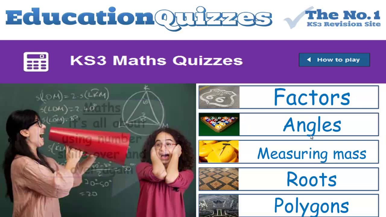 KS3 Maths Quizzes | Learning and Teaching Year 7, Year 8 and