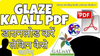 How to download glaze's all PDF files