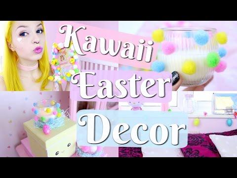DIY: Pastel Easter Decor / Kawaii Easter Decorations