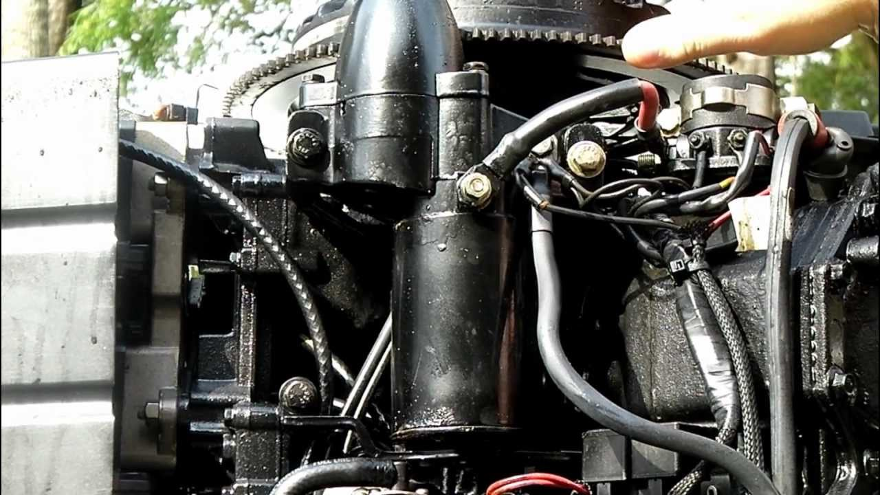 howtoinafew changing an outboard motor s starter youtube tilt relay 40 hp evinrude wiring diagram #13