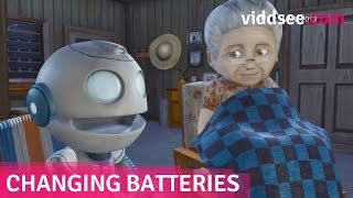 "Changing Batteries - A Robot ""Son"" Couldn't Replace The Emptiness In Her Heart // Viddsee.com"
